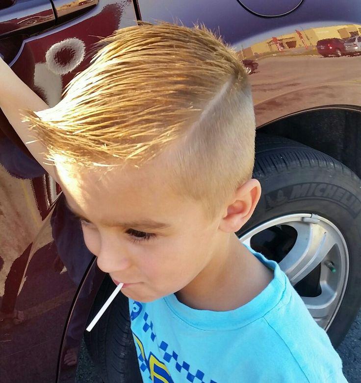 Hard part hair cut for little boys