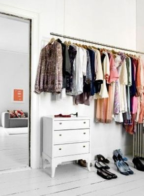 Wonderful I Like The All White Look For A Closet Space Or Perhaps An Entire Room For  A Closet/wardrobe, Especially The White Painted Floors And White Painted ...