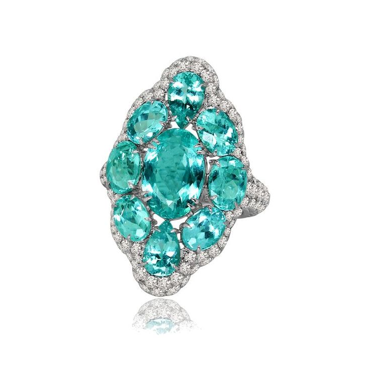 GABRIELLE'S AMAZING FANTASY CLOSET | Sutra African Paraiba Tourmaline & Diamond Ring |