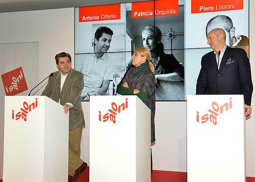 Nella foto Antonio Citterio, patricia Urquiola, Piero Lissoni. iSaloni - press conference: Presentation @Elaine Morrow C Unicredit, piazza Gae Aulenti - Milano. #isaloni #architecture #designer www.isaloni.it/  blog.isaloni.it/