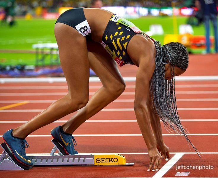 Nafi Thiam, Belgium, Heptathlon 2017 World Champion. This image is Nafi during the 200meters / Heptathlon at the 2017 IAAF World Championships London. #Athlete Also, she is wearing nike spikes that only the Olympic Champion gets to...