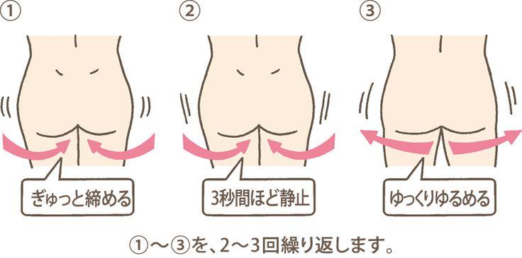 骨盤底筋体操|便失禁は治療ができる病気です-おしりの健康.jp