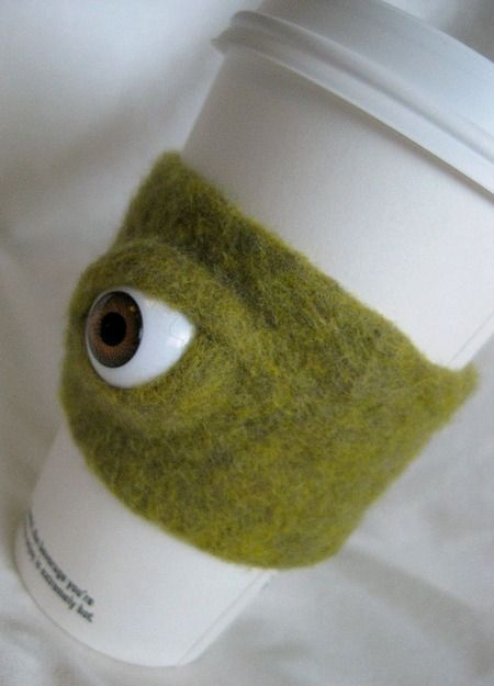 Needle Felting... this would be disturbing to look at on my morning coffee, lol.
