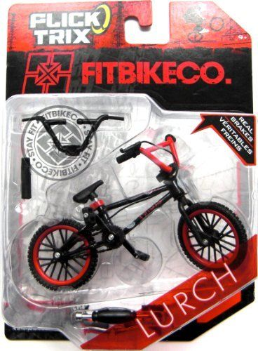 Spin Master Toys Uk Ltd Flick Trix Bmx Assortment by Spin Master Toys UK Ltd. $16.00. Real Brakes. Interchangeable parts. Flick Trix finger BMX bikes are the only miniature BMX bikes that use authentic licensed BMX graphics. Sit your fingers on the bike - pedal and perform awesome stunts with the finger size BMX. The Flick Trix BMX Bike features real working parts and inter-changable handle bars for doing super cool tricks. Flick Trix BMXing is a great way to encoura...