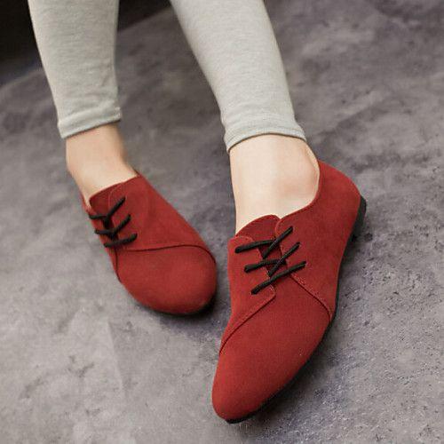 Mujer Zapatos Tejido Primavera Verano Otono Confort Tacon Plano Con Cordon Gris Amarillo Rojo 2020 Us 16 99 Zapatos Mujer Zapatos Casual Mujer Zapatos Bolicheros