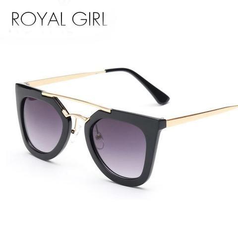ROYAL GIRL New Designer Flat Top Sunglasses Women  Vintage Brand Glasses Fashion Oculos De Sol SS172