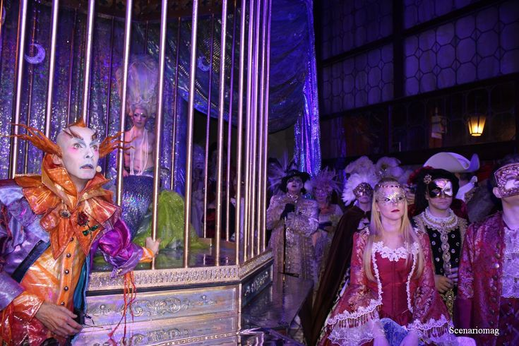 Venice Carnival behind closed doors. Chris Channing actor - Antonia Sautter design/event