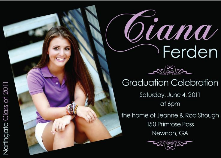 Best Invitations Images On Pinterest Graduation Ideas Grad - Party invitation template: grad party invites templates