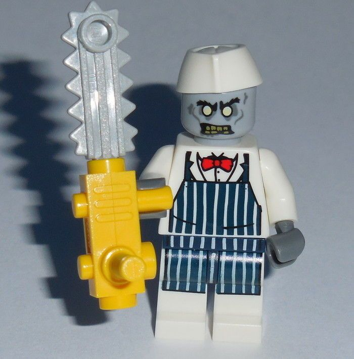 halloween lego zombie chef butcher w chainsaw new monster. Black Bedroom Furniture Sets. Home Design Ideas