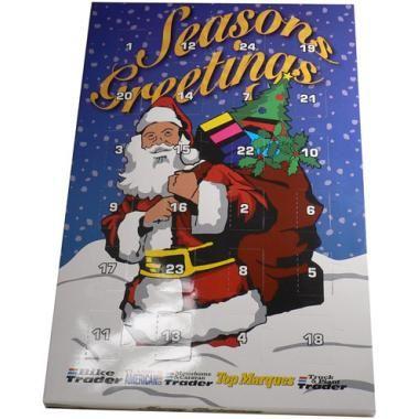 Seasonal Christmas advent calenders branded - Promotional Christmas Chocolates.