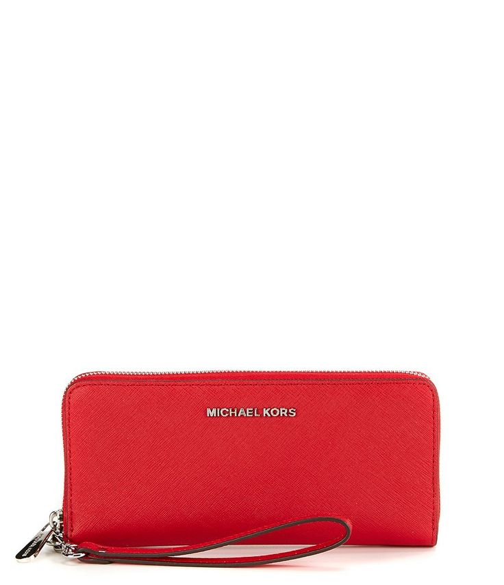 MICHAEL Michael Kors Jet Set Continental Multifunction Phone Wallet in Bright Red or Pearl Grey