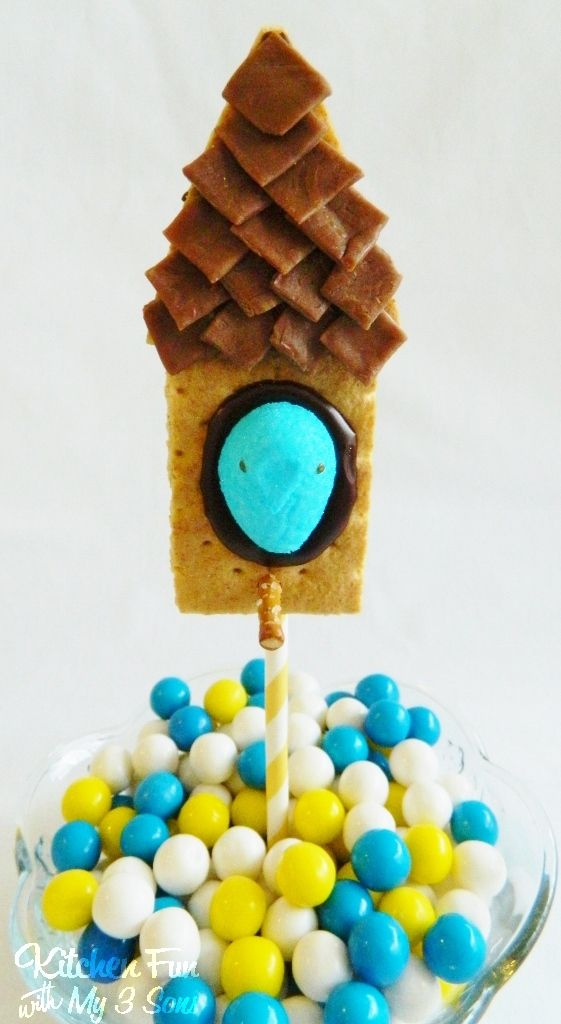 Peeps Bird House S'mores on a Stick and a Spring Hop Along PEEPS Party & Giveaway!! - Kitchen Fun With My 3 Sons
