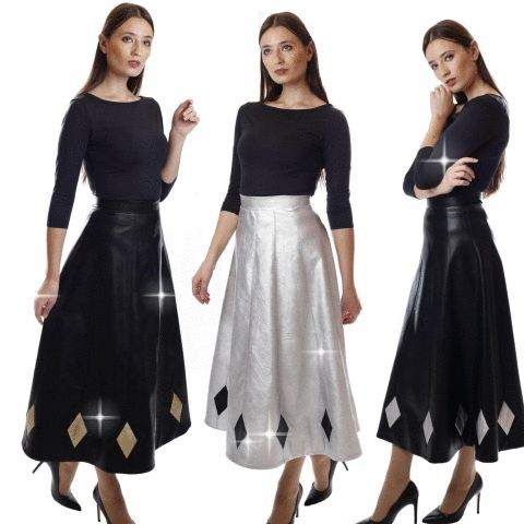 Midi leather skirts muza-shop.com