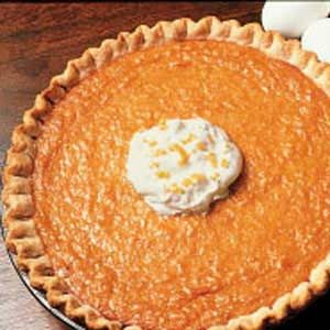 Sweet Potato Pie~  Simple,delicious and reviewers say to be sure to use a deep dish pie shell for the amount of filling in this recipe.