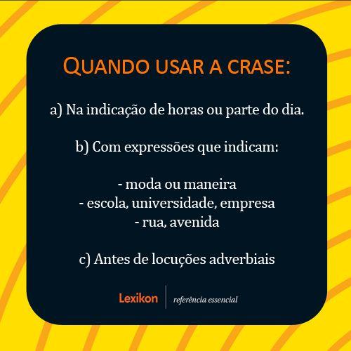 Português na tela: Dúvidas, por quê? #crase