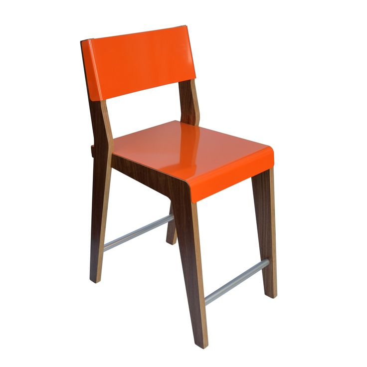 Lock Counter Stool In Walnut Amp Orange By Housefish