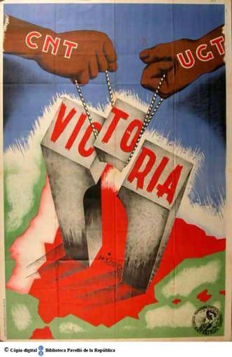 Victoria Madrid :: Cartells del Pavelló de la República (Universitat de Barcelona)