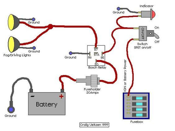 Fog Light Relay Wiring Diagram - Wiring Diagrams