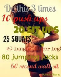 change sit up to 20 sec planks change lunges for cow kicks