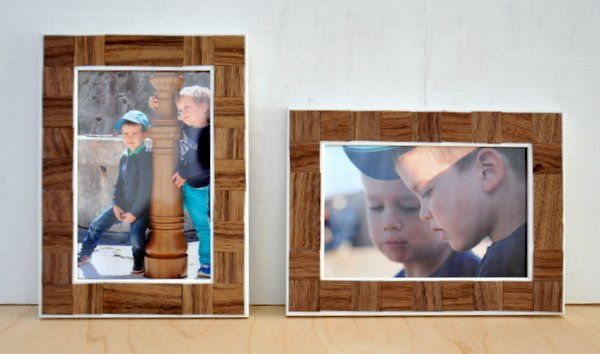 Képkeret dekorálási ötlet - Masni / Easy picture frame decoration, DIY