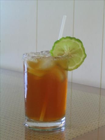 Vanilla Almond Sweet Tea - this is totally awesome. Best southern sweet tea I've had!  8 cups cold water, divided,  9 regular-size tea bags or 3 family-size tea bags,  1 cup sugar,  1 teaspoon vanilla extract,  1 1/2 teaspoons almond extract,  3 lemons, juice of.