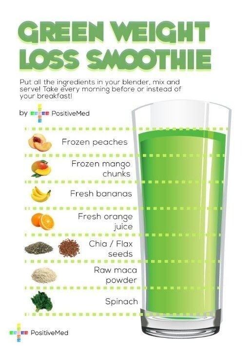 Green weight loss smoothie-minus the chia seeds and protein powder instead