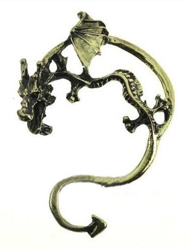 Silver Dragon Hoop Earrings