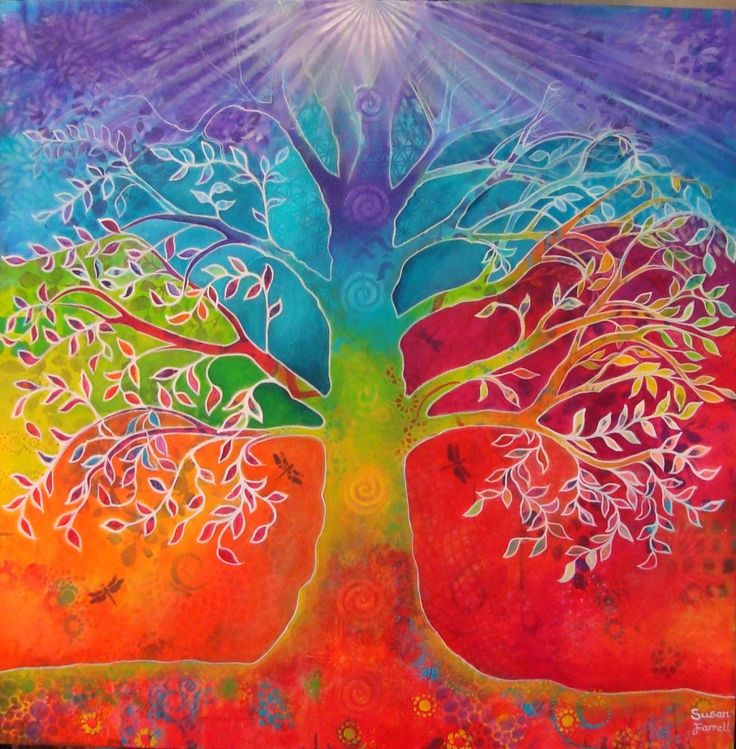 Chakra Tree of Life by Susan Farrell LES RACINES ANCRANT MA TRANSFORMATION.