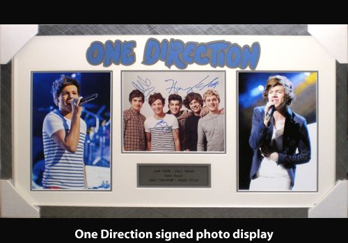 One Direction signed photo display