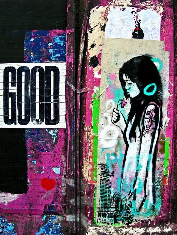 Graffiti London - street art - photography - urban art - Good - pink - urban photography
