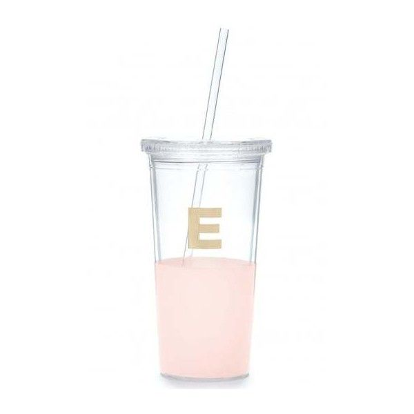 Kate Spade New York Dipped Initial Insulated Tumbler E ($26) ❤ liked on Polyvore featuring home, kitchen & dining and kate spade