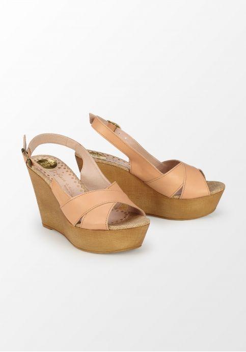 Gioseppo, sandale bej cu talpă ortopedică