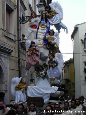 Traditional Misteri parade in Campobasso - Italy