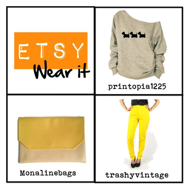 """Etsy wear it"" by monaline ❤ liked on Polyvore featuring vintage"