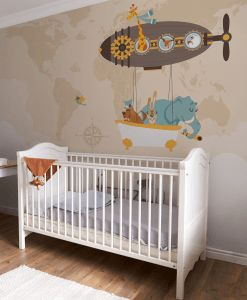 carta da parati con animali Baby Interior Design