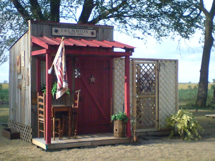 This Is My Garden Shed That My Husband Built Using Pallets