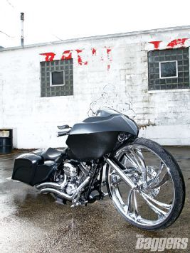 Hot Bike Baggers Magazine Custom H-D Road Glide Bagger