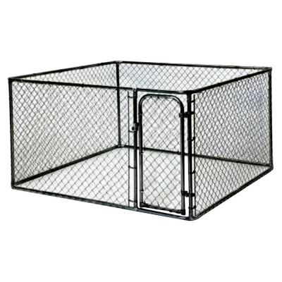 Kennelmaster 10 ft x 5 ft x 6 ft black powder coated for Dog run fence home depot