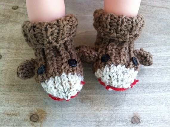 Hey, I found this really awesome Etsy listing at https://www.etsy.com/listing/159263132/knit-sock-monkey-socks