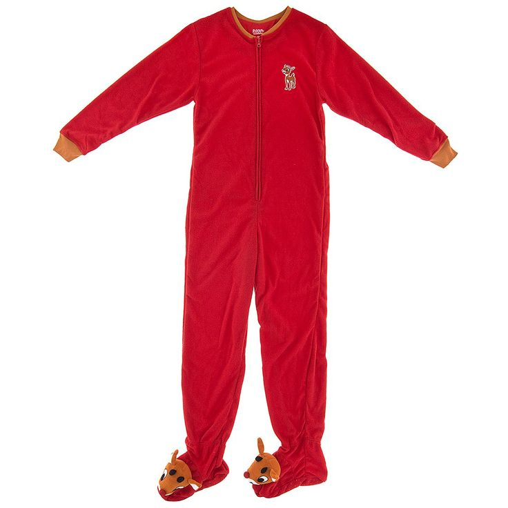 Rudolph the Red Nosed Reindeer Footed Pajamas for Women - Footed Pajamas for Women
