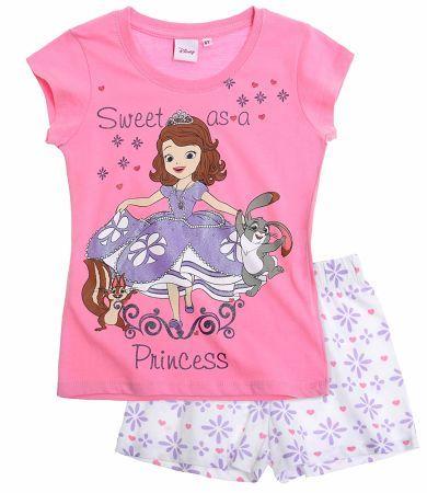 Disney Sofia the First Short Sleeve Pyjama white