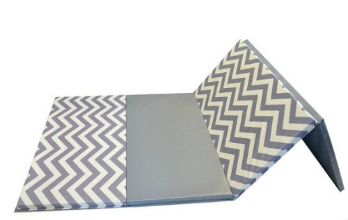 "Amazon.com : 4' x 8' x 2"" Chevron Folding Gymnastics Mat (Gray/White Chevron) : Sports & Outdoors"