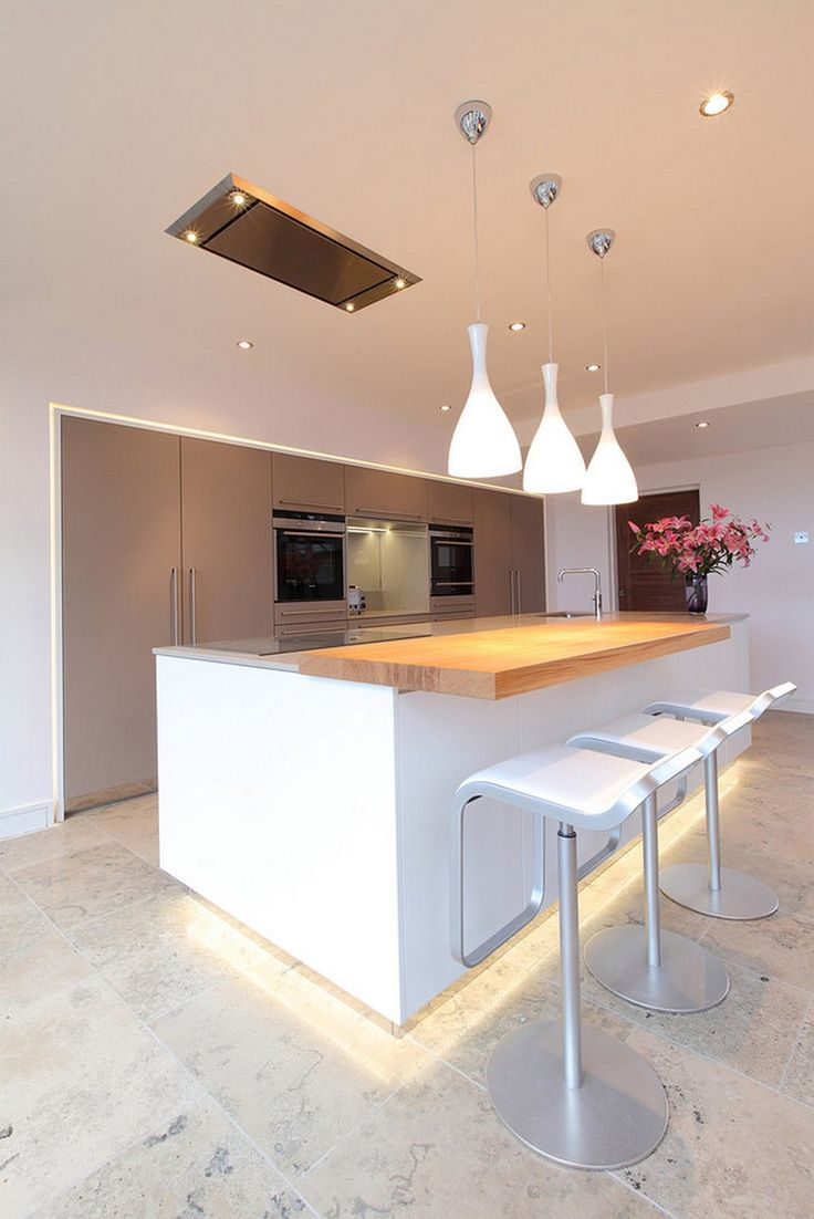 nice 99 Functional and Modern Kitchen Island Design Ideas http://www.99architecture.com/2017/04/13/99-functional-and-modern-kitchen-island-design-ideas/