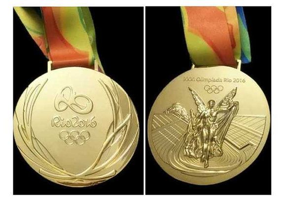 "Rio 2016 Olympische ""Goldmedaille"" & Band"