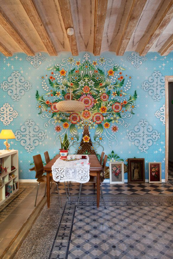 Catalina Estrada's wallpaper collection!Decor, Ideas, Dining Room, Favorite Places, Interiors Design, Murals, Estrada Wallpapers, Catalinaestrada, Catalina Highway
