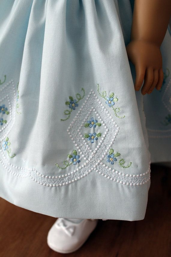 Embroidered Heirloom Dress for 18 Inch Dolls by BabiesArtUs