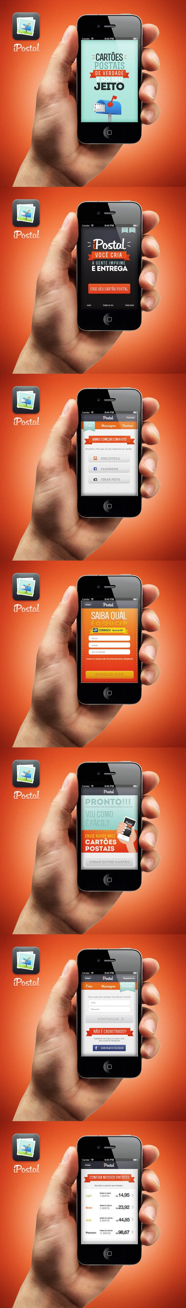 iPostal app by Leonardo Zem, via Behance