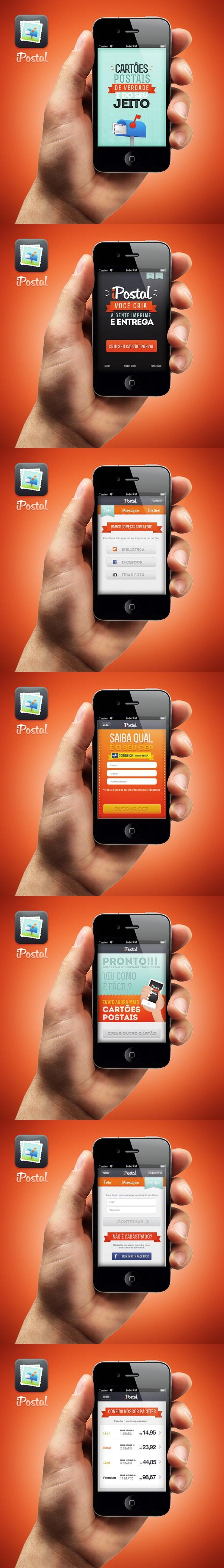 iPostal app by Leonardo Zem, via Behance