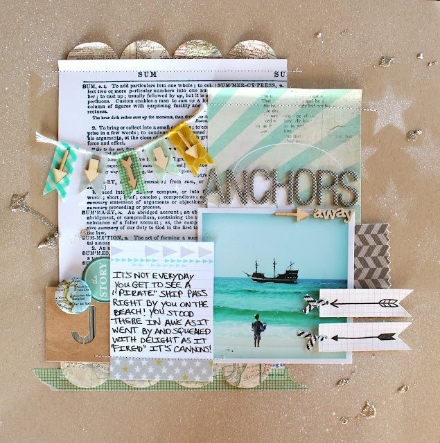 HAve a beach page with a section describing what it means to me...connect it to a spread with pics