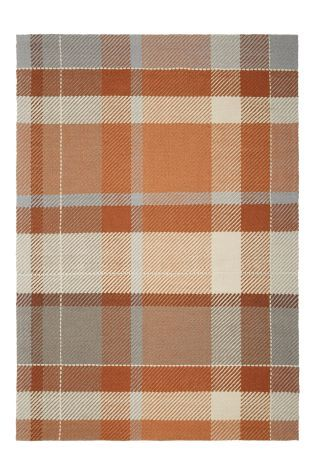 Buy Rustic Wool Check Rug From The Next Uk Online Shop